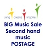 Postage for Second Hand music - fewer than 10 copies