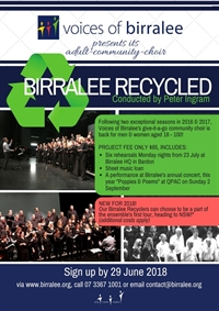 Birralee Recycled Promo Image  April 2018